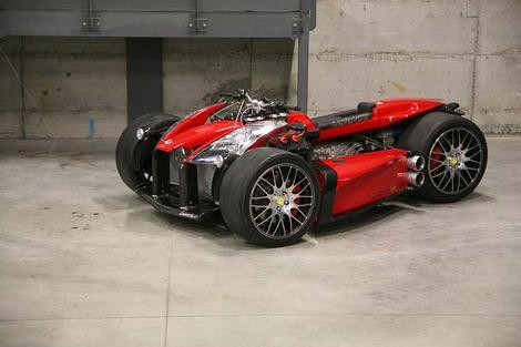Французи побудували квадроцикл з мотором Ferrari