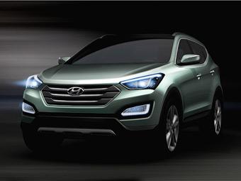 Компанія Hyundai показала зовнішність нового Santa Fe