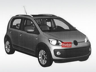 Volkswagen запатентував дизайн п'ятидверного компакт-кара up!