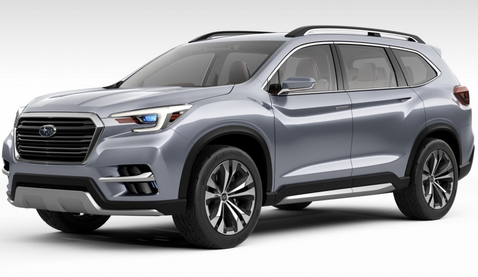 Subaru офіційно паказала новий 7-міснгий кросовер