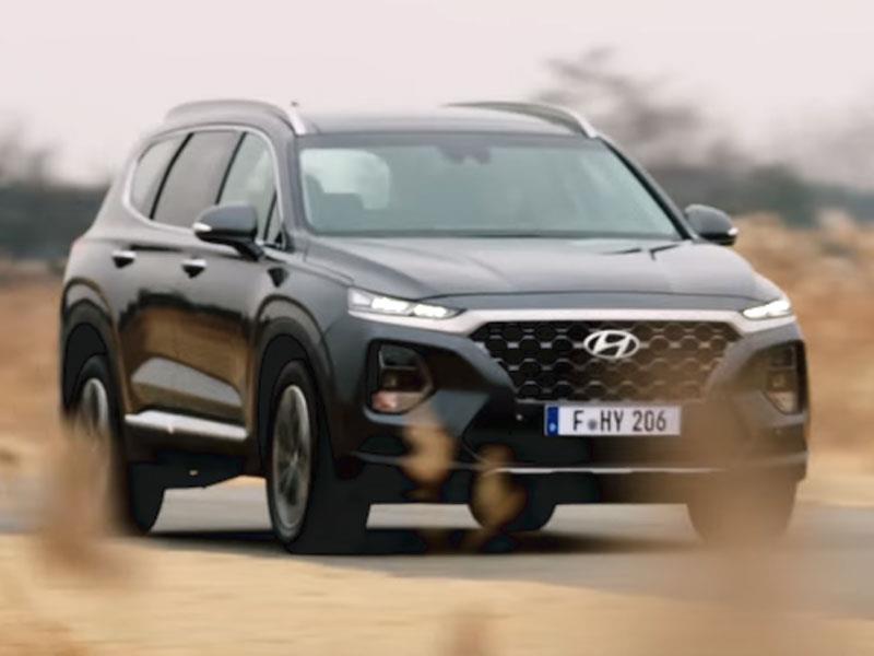 Новий Hyundai Santa Fe показали на відео
