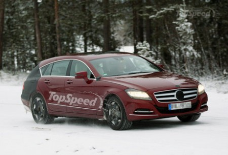 Універсал Mercedes-Benz CLS помічений шпигунами
