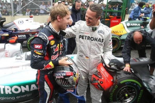 Шумахер не впевнений, що зміг би вигравати за кермом автомобіля Феттеля