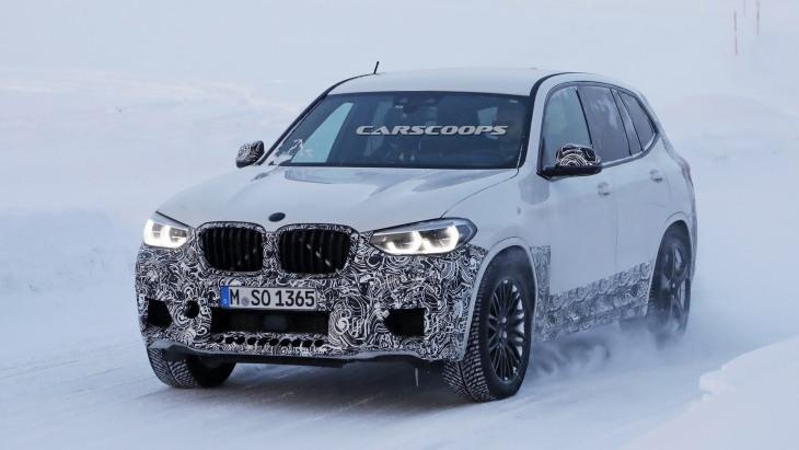 BMW X3 M 2019 «застукали» на зимових тестах