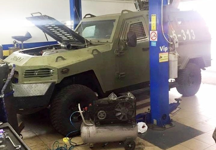 Українські бронеавтомобілі оснастили ГБО