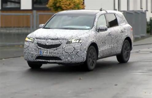 Новий Acura MDX зняли на відео