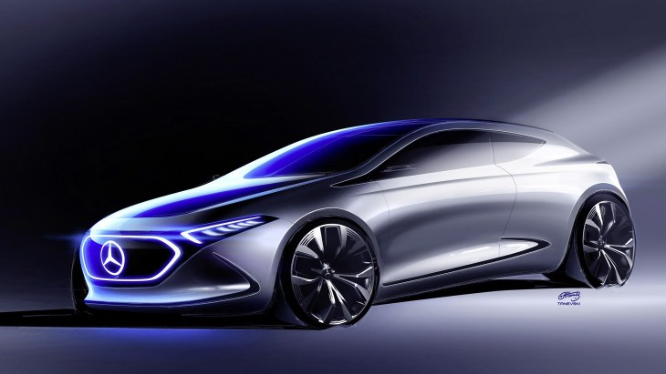 Mercedes показав зображення нового електромобіля