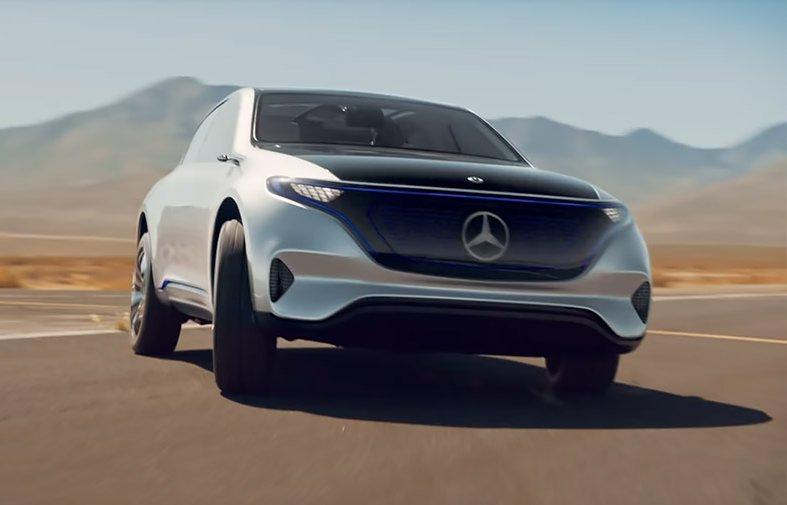 Mercedes показав новий електрокар в русі