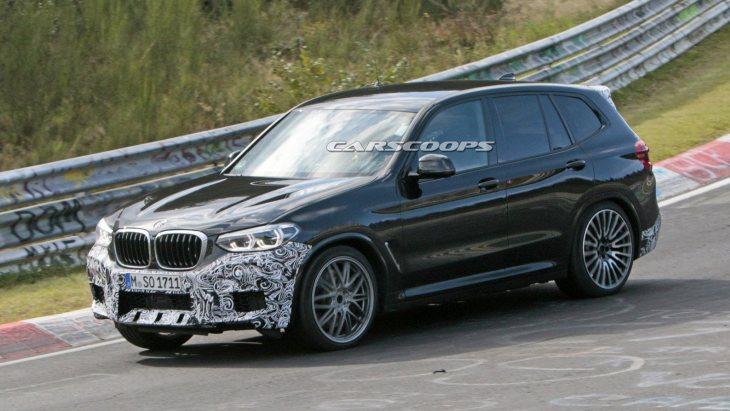 BMW X3 M помічений на Нюрбургринзі