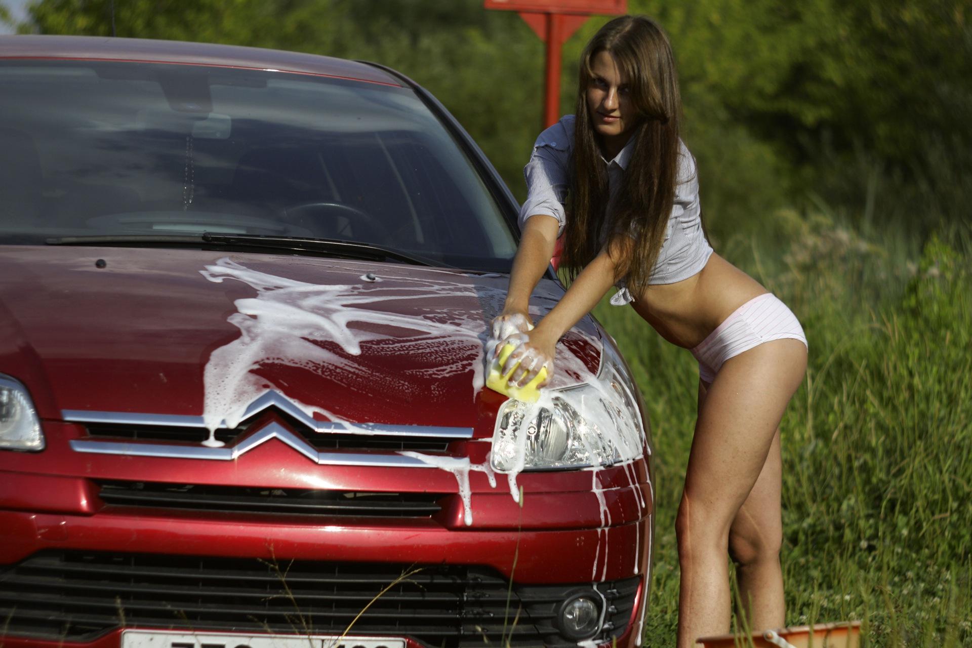 Прикольные картинки авто и девушка