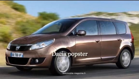 Ціна мінівену Dacia Popster стартуватиме з 13 000 евро