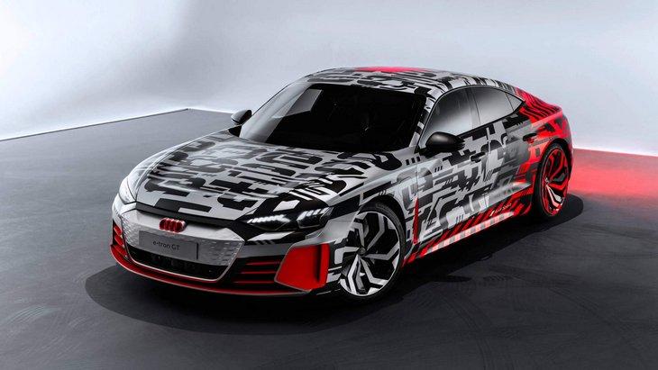 Audi показала перші офіційні фото електричного e-tron GT