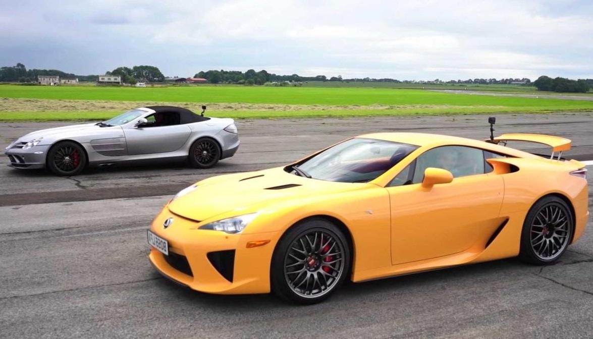 Lexus проти Mercedes-Benz: драг-рейсинг легендарних автомобілів (ВІДЕО)