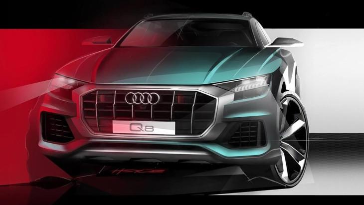 Кросовер Audi Q8: нові зображення і дата прем'єри