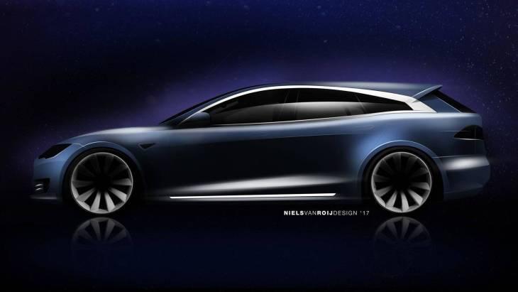 Перші зображення універсала Tesla Model S