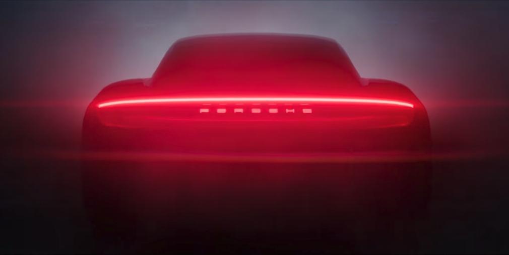 Porsche показала силует свого першого серійного електрокара
