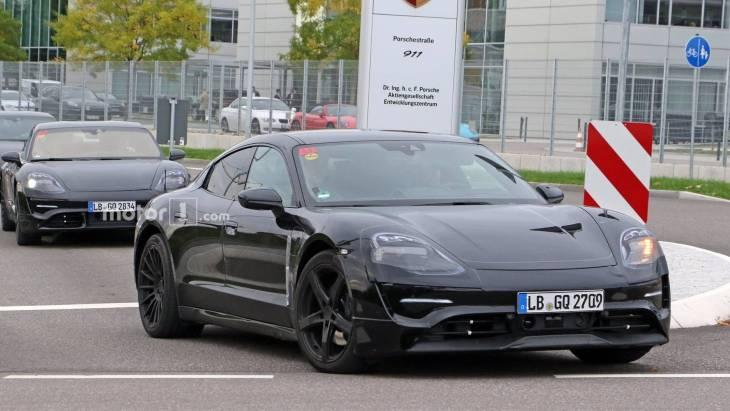 Електричний спорткар Porsche помічений в серійному кузові