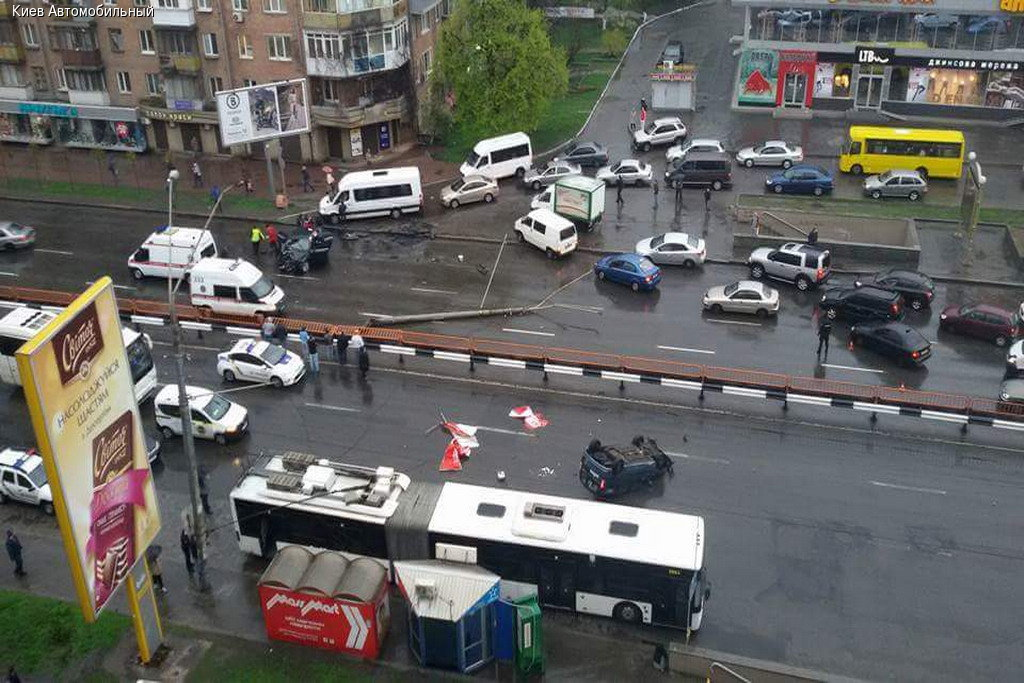 Резонансна ДТП у Києві: з'явилось відео