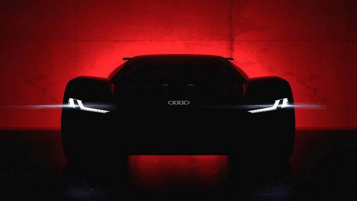Audi представила перше фото електричного суперкара E-Tron