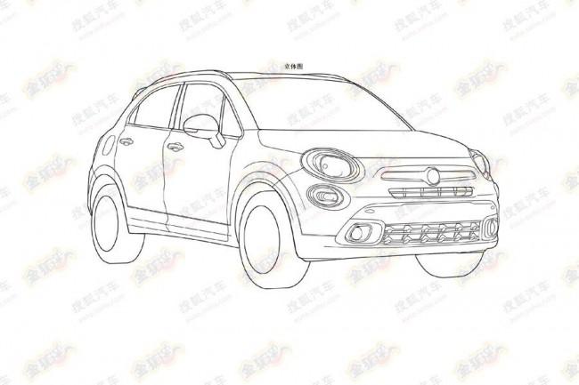 Fiat 500X - патентні зображення